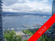 COAL HARBOUR - Platinum Mile hirise concrete condo for sale: CIELO  2 bedroom 1,241 sq.ft. (Listed 2007-10-29)